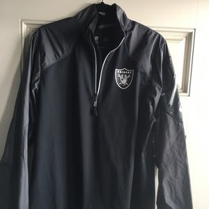 Nike Dri Fit Raiders Quarter Zip Size Large
